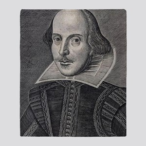 William Shakespeare Portrait Throw Blanket