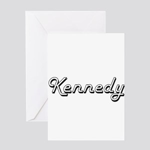 Kennedy surname classic design Greeting Cards