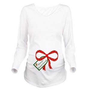 mommys favorite present long sleeve maternity t sh - Maternity Christmas Shirts