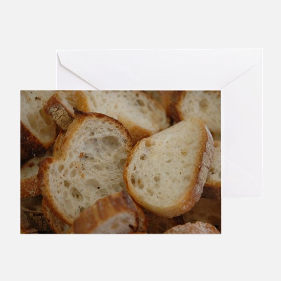 Artisan Bread Slices Greeting Card