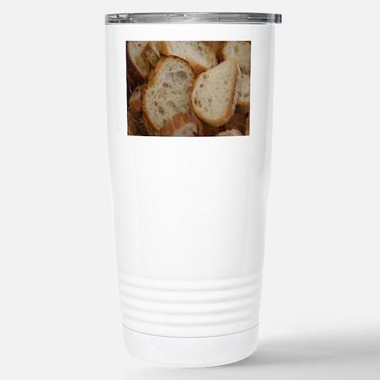 Artisan Bread Slices Stainless Steel Travel Mug