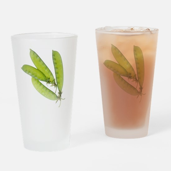 Snow Peas Drinking Glass