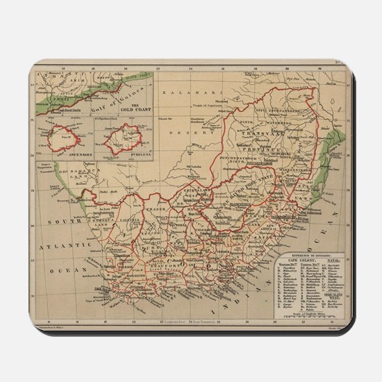 Vintage Map of South Africa (1880) Mousepad