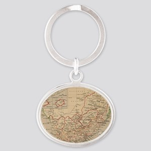 Vintage Map of South Africa (1880) Oval Keychain