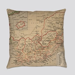 Vintage Map of South Africa (1880) Everyday Pillow