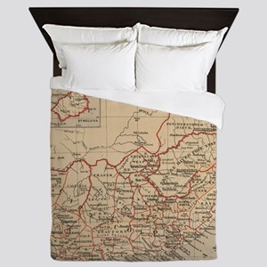 Vintage Map of South Africa (1880) Queen Duvet
