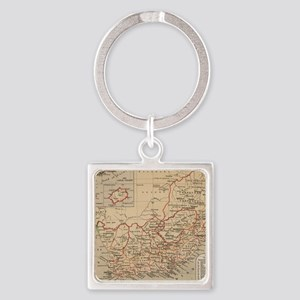 Vintage Map of South Africa (1880) Square Keychain