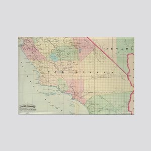 Vintage Map of Southern Californi Rectangle Magnet