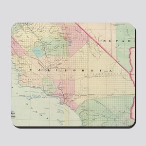 Vintage Map of Southern California (1874 Mousepad