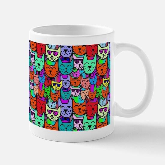 Colorful Rainbow Cats Mugs