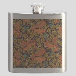 Vintage Art Deco Squirrel and Leaves Design Flask