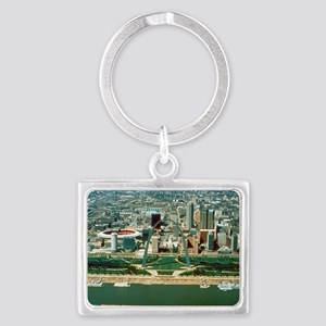 St. Louis Arch and Skyline Landscape Keychain