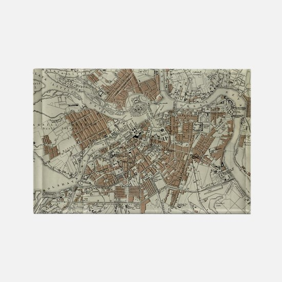 Vintage Map of St Petersburg (189 Rectangle Magnet