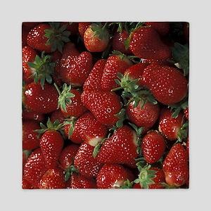 Bushel of Strawberries  Queen Duvet