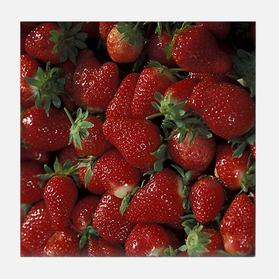 Bushel of Strawberries  Tile Coaster