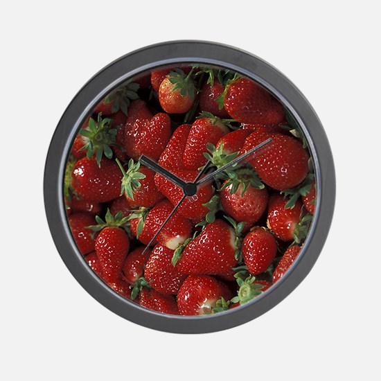 Bushel of Strawberries  Wall Clock
