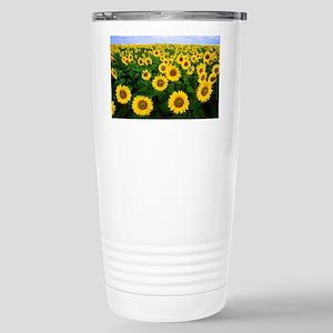 Field of Sunflowers Stainless Steel Travel Mug