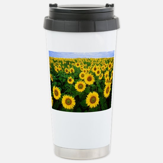Field of Sunflowers Stainless Steel Travel Mug