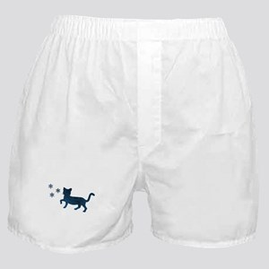 Cat fights snowflakes Boxer Shorts