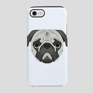 Illustration dogs face Pug iPhone 7 Tough Case