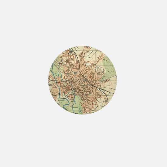 Vintage Map of Hanover Germany (1895)  Mini Button