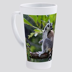 Ring-tailed lemur 17 oz Latte Mug