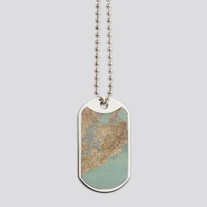 Vintage Map of Staten Island (1891) Dog Tags