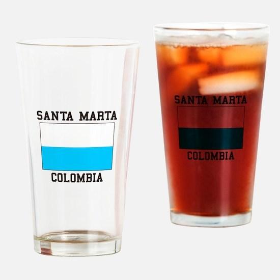 Santa Marta, Colombia Drinking Glass