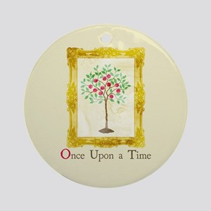 OUAT Lucy Story Book Round Ornament