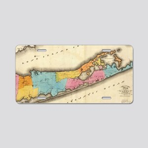Vintage Map of Suffolk New  Aluminum License Plate