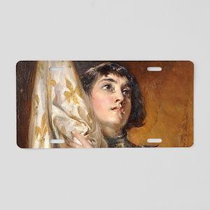 Portrait of Saint Joan of A Aluminum License Plate