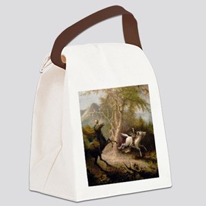 Vintage Art of Sleepy Hollow  Canvas Lunch Bag