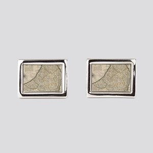 Vintage Map of Barbados (173 Rectangular Cufflinks