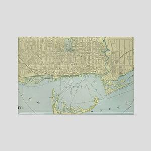 Vintage Map of Toronto (1901) Rectangle Magnet