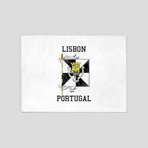 Lisbon Portugal 5'x7'Area Rug