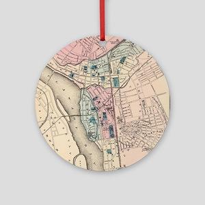 Vintage Map of Trenton NJ (1872) Round Ornament