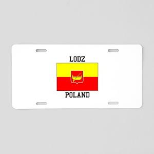 Lodz Poland Aluminum License Plate