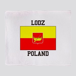 Lodz Poland Throw Blanket