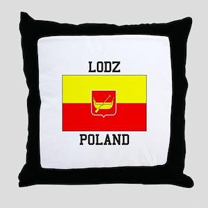 Lodz Poland Throw Pillow