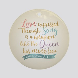 OUAT Love Expressed Through Song Round Ornament