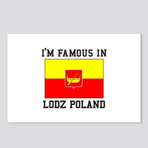 I'm Famous in Lodz Poland Postcards (Package of 8)