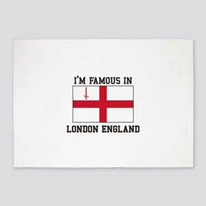 I'm Famous in London England 5'x7'Area Rug