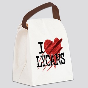 I Heart Lycans Canvas Lunch Bag