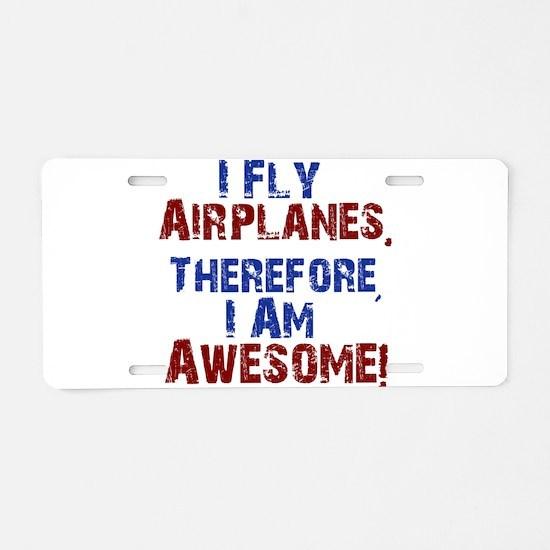 airplanes Aluminum License Plate