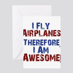 airplanes Greeting Cards