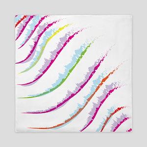 Waves color Queen Duvet