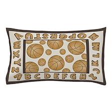 Basketball Alphabet Pillow Case
