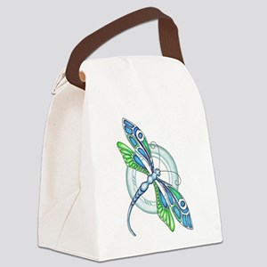 Decorative Dragonfly Canvas Lunch Bag