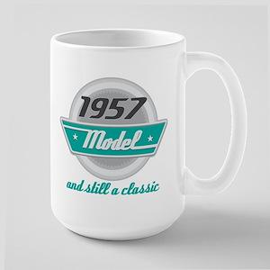 1957 Birthday Vintage Chrome Mugs