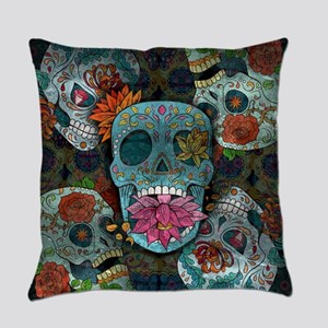 Sugar Skulls Design Everyday Pillow